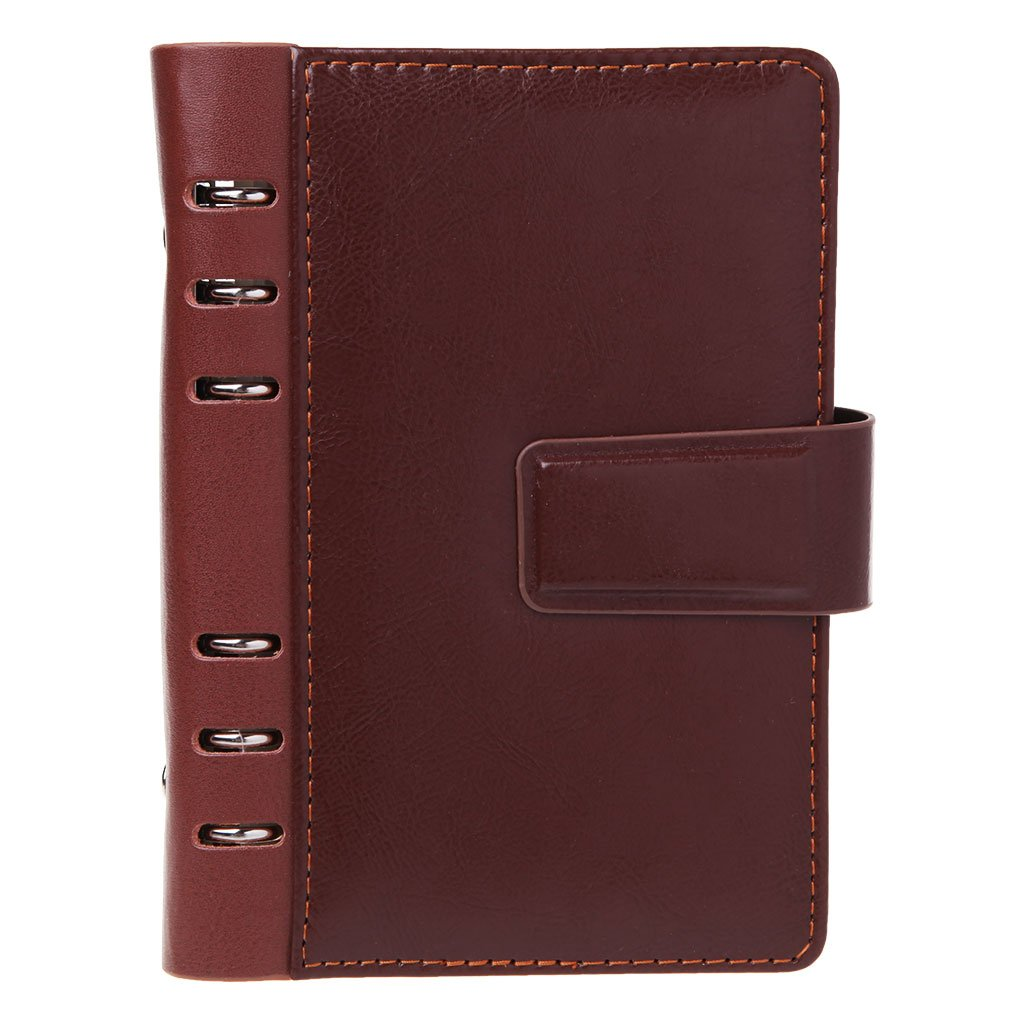 Nankod vintage in ecopelle notebook planner Dividers Spiral notebook A6diario personale per uso ufficio scuola Nero