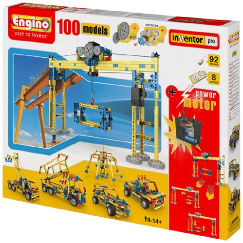 Engino  - 100 Model  Construction Set with 2 RC Motors and Gears (2 Model Set)