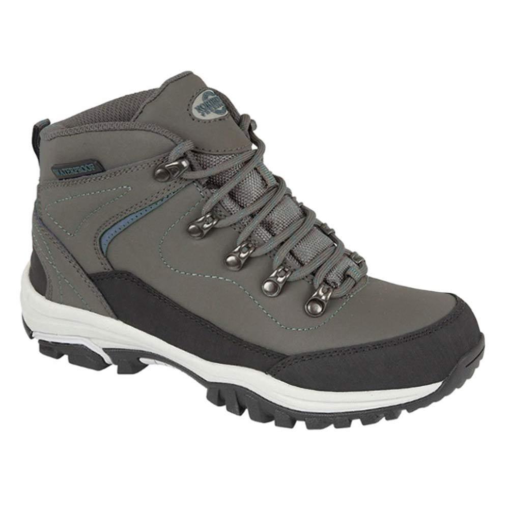 Northwest Territory Ladies Leather Lightweight Waterproof Walking Hiking Trekking Comfort Memory Foam Shoes Size 3 4 5 6 7 8