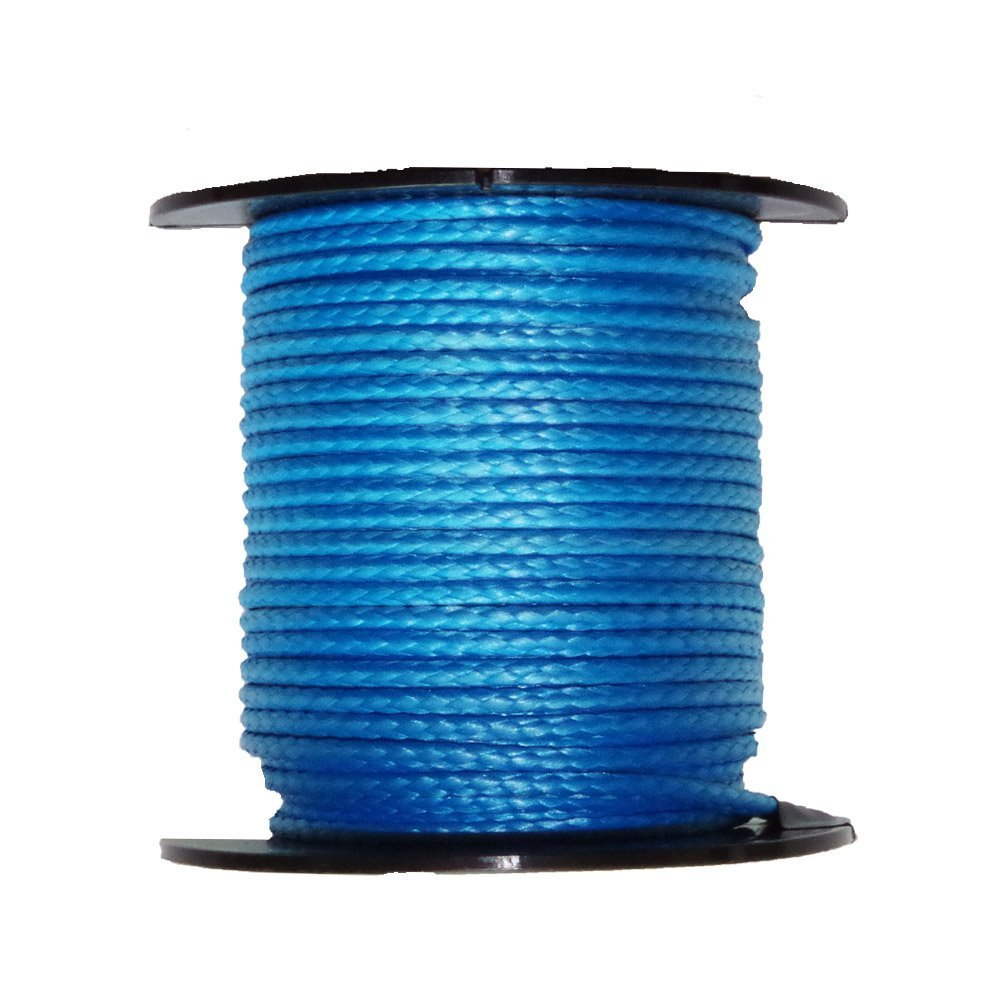 Ymiss 7//64 UHMWPE Supper Strong Lightweight Blue Rope 1938Lbs Strength-300ft