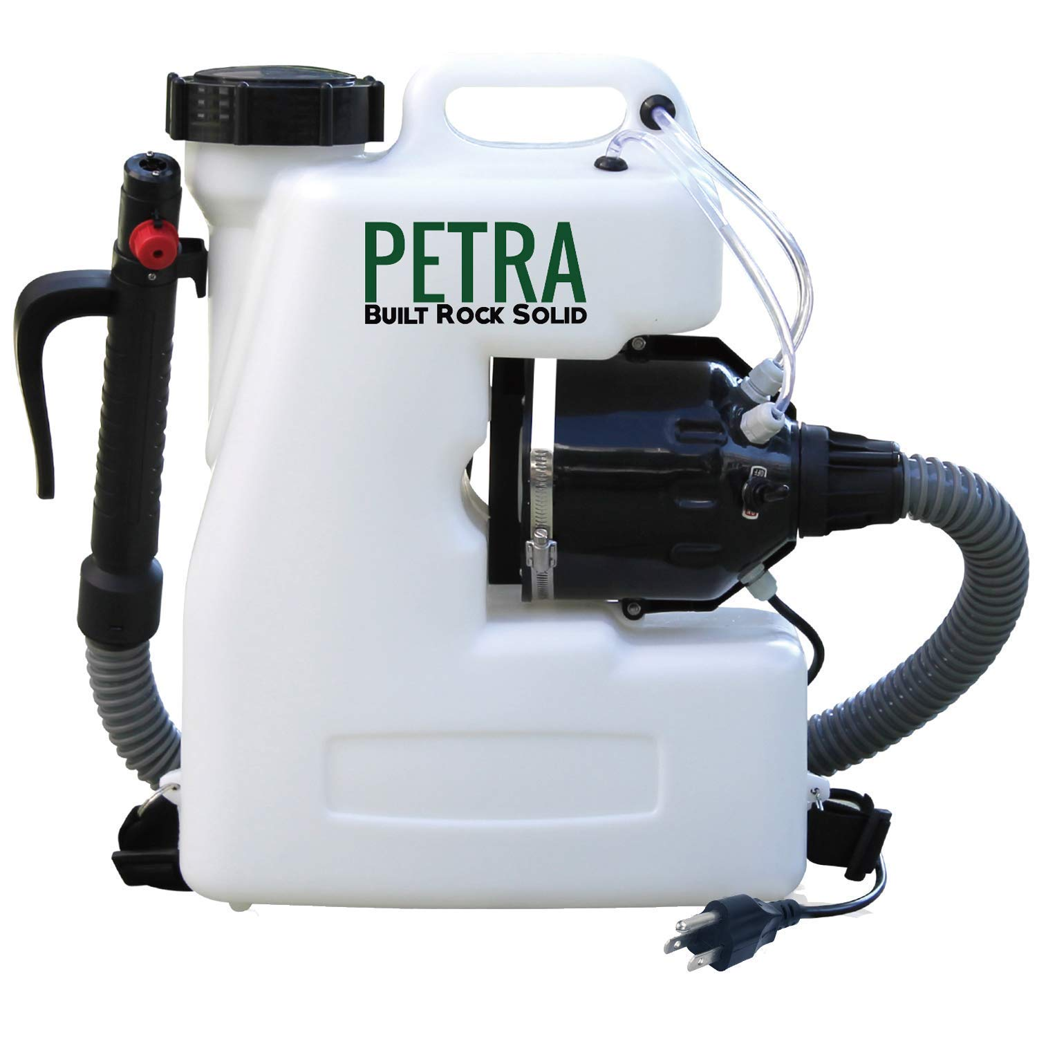 Petra Electric Fogger Atomizer Backpack Sprayer - 4 Gallon Mist Blower with Extended Commercial Hose for Pest & Mold Control – Insect, Bug & Mosquito Fogger (with Premium Comfortable Straps)
