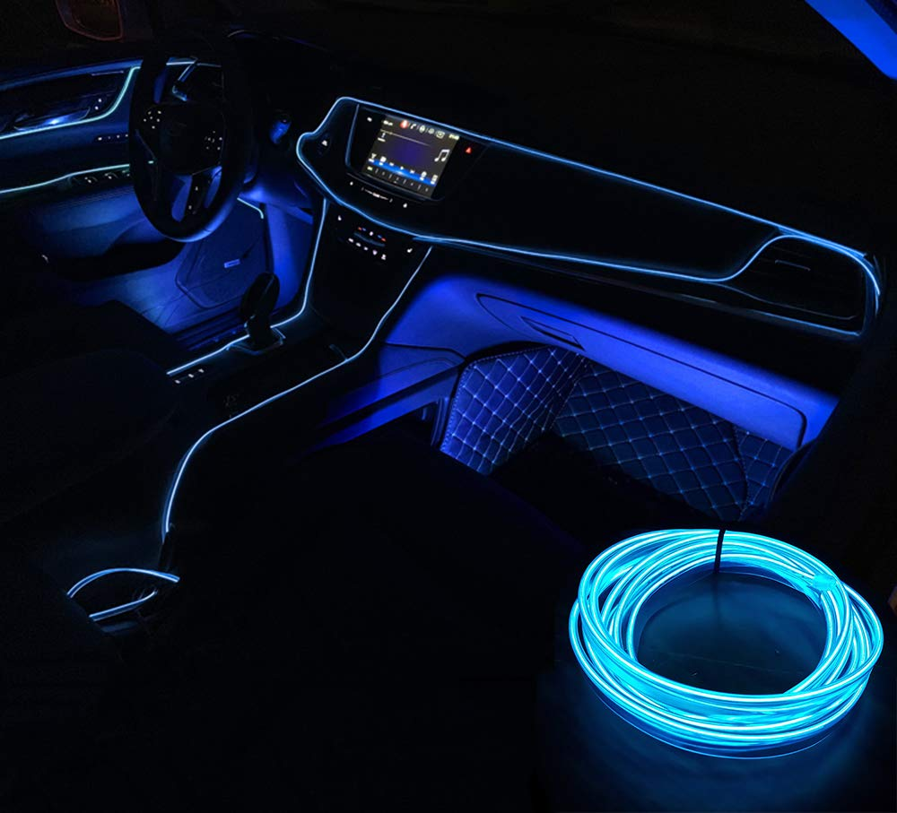 Ambientebeleuchtung Innenraumbeleuchtung STYLINGCAR LED 12V Ambiente Lichtleiste Streifen Rot