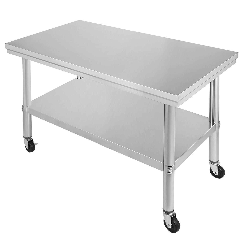Amazon.com: Happybuy NSF mesa de trabajo de acero inoxidable ...