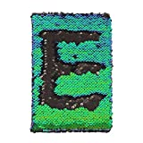 Liliam Mermaid Reversible Sequin Journal Office Travel Notebook Notepad School Diary Birthday Gift for Adults Kids Studying Writing(Black&Green)