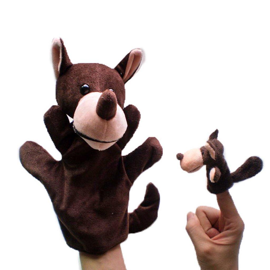 Satz Von 2 Stück Hand & Fingerpuppen - Wolf Generic