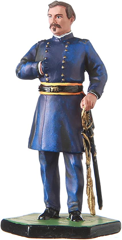 danila-souvenirs Tin Toy Soldier USA Civil war Northerners General George B McClellan Hand Painted Metal Sculpture Miniature Figurine 54mm #5.57