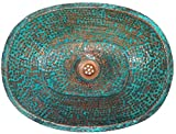 Egypt gift shops Verdigris Oval Copper Bathroom Sink Toilet Lavatory Wash Room Basin Construction Renovation Remodel
