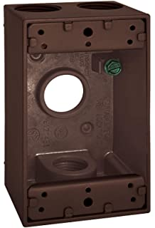 Sigma Electric 14371BR 1//2-inch 1 Hole 1-Gang Rectangular Lamp Holder Cover Bronze