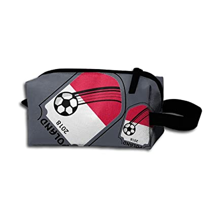 FGca1 Bag 2018 Football Poland Unisex Portable Cosmetic Bags Pouch Bags For Travel Camping
