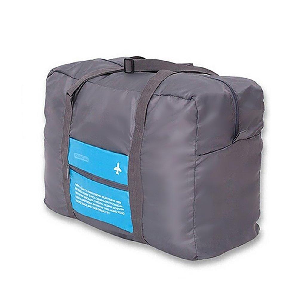 runacc折りたたみ式旅行ダッフルバッグ荷物バッグ大容量ナイロンジムバッグfor旅行、キャンプ、ジム、31 – 40l容量、ブルー B07BNBQS6C