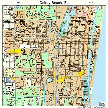 Delray Beach Florida Map.Amazon Com Large Street Road Map Of Delray Beach Florida Fl
