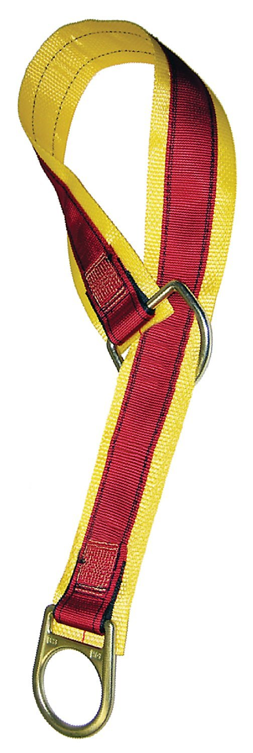 MSA SFP2267503 Double D-Ring Anchorage Connector Strap, 3' Length