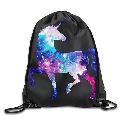 Amazon.com: BVILL Galaxy Unicornio Unisex Cordón Bolsa de ...