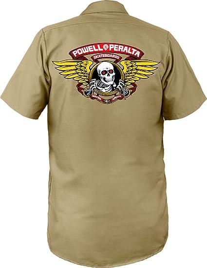 Powell Peralta Winged Ripper Work Shirt Khaki Small