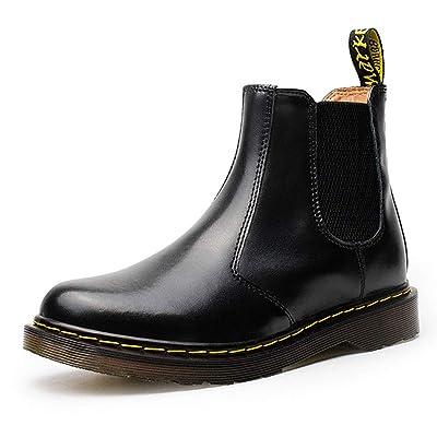 Jeapeer Women's Genuine Leather Chelsea Boots Slip On Low Heel Waterproof Lightweight Elastic Rain Ankle Booties   Ankle & Bootie