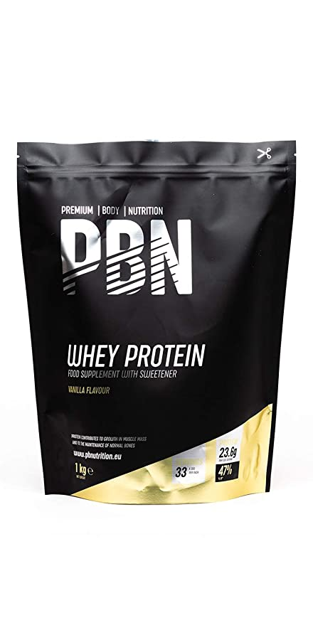 PBN - Proteína de suero de leche en polvo, 1 kg (sabor vainilla)