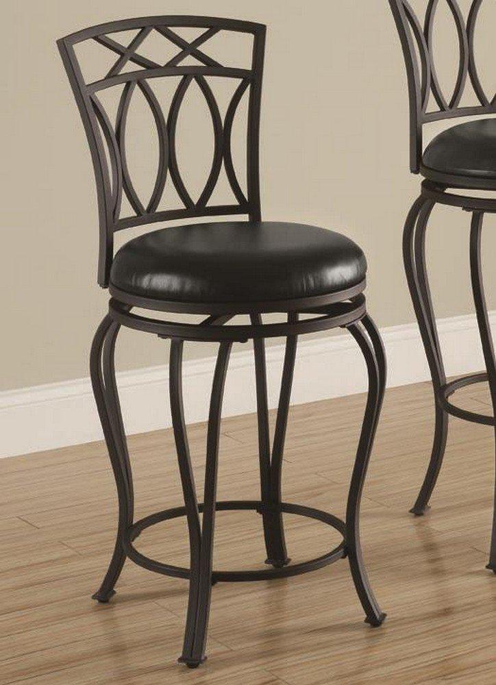Amazon.com: Coaster Home Furnishings Casual Bar Stool, 24 Inch,  Black/Black: Kitchen U0026 Dining