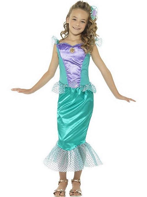 Halloweenia Disfraz de Sirena para niña, Disfraz de Sirena ...