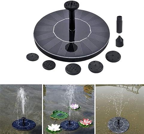 EisEyen - Bomba Solar para pozos y estanques, con 5 boquillas para estanques de jardín: Amazon.es: Hogar