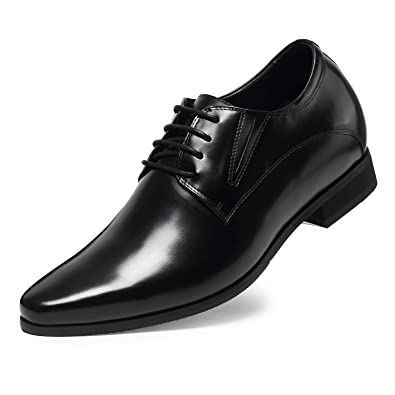 c68ad81f15d01 CHAMARIPA Elevator Shoes Leather Mens Dress Shoes Height Increasing Shoes