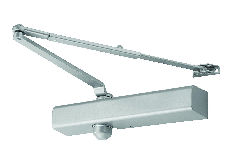 Regular Arm with Parallel Arm Shoe FALCON SC81 RW//PA AL SLIM Medium Duty Door Closer Aluminum Finish by Falcon Slim Cover