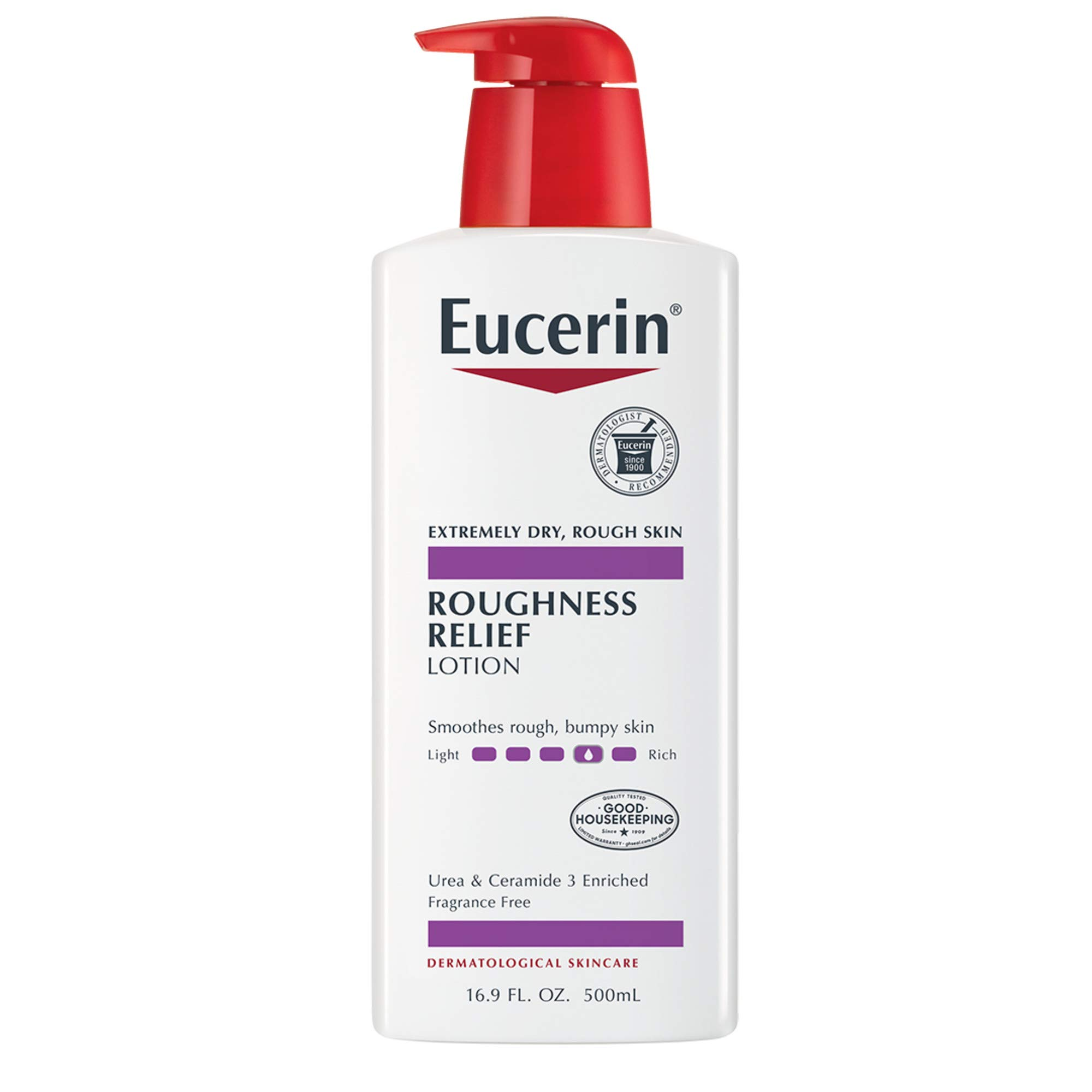 Eucerin Roughness Relief Lotion - Full Body Lotion for Extremely Dry, Rough Skin - 16.9 fl. oz. Pump Bottle