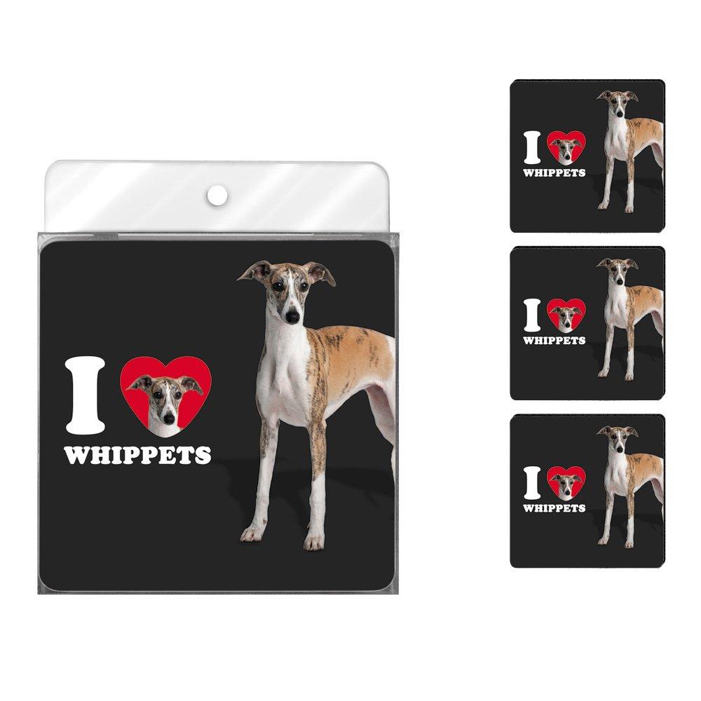 Tree-Free Greetings NC39141 I Heart Whippets 4-Pack Artful Coaster Set