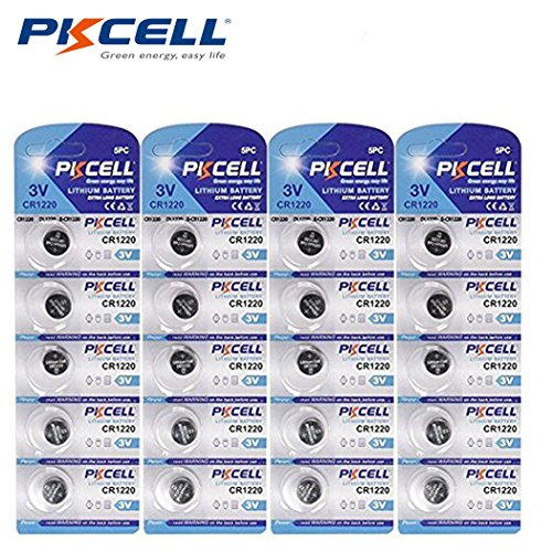 CR1220 3V Lithium Coin Cell Watch Batteries 20-Pack