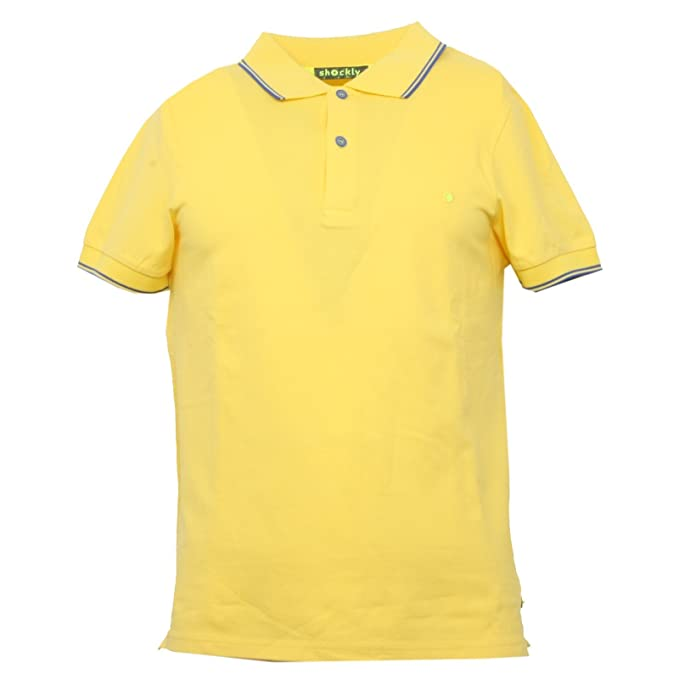 B3421 polo uomo SHOCKLY giallo manica corta t-shirt polo men [XS ...