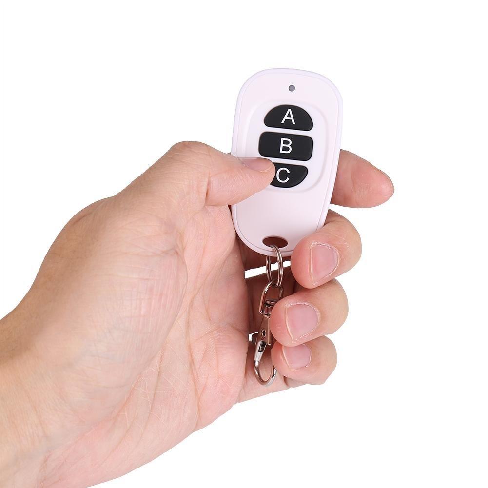 Acogedor Mando a Distancia inal/ámbrico de 433/MHz EV1527/con 1//2//3//4/Botones para controlar F/ácilmente Ideal para casa Garaje Almac/én//Color Blanco y Negro