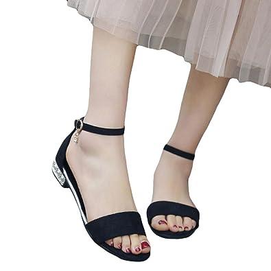 1d5c56b88197c Fuibo Elegant Sandalette Frauen Sommer Dame Sandalen Offene Zehe Flache  Schuhe Gladiator Schuhe Flops Sandalen Flip