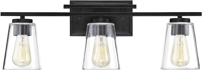 Savoy House 8-1020-3-BK Calhoun Vanity, 3-Light Total 360 Watts, Black