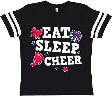 inktastic Cheerleading Eat Sleep Cheer White Toddler T-Shirt