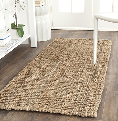 Safavieh Natural Fiber Collection NF447A Hand Woven Natural Jute Runner