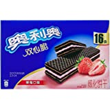 奥利奥 双心脆 威化饼干 草莓味232g