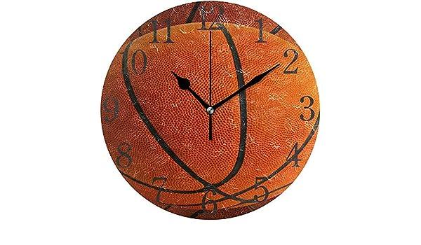 Cy-ril Reloj de Pared números arábigos diseño Baloncesto en Grupo ...