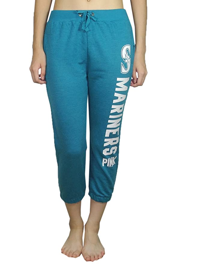 f259e8bbddcd6d Amazon.com: Pink Victoria's Secret Womens SEATTLE MARINERS Lounge / Yoga  Crop Pants L Cyan: Sports & Outdoors