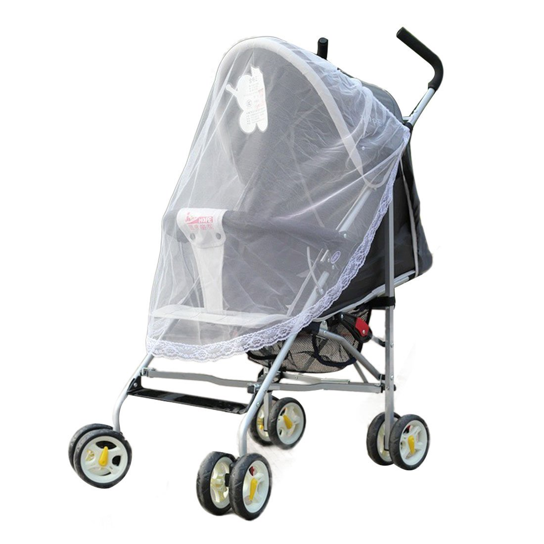 Voberry Universal Lace Safe Baby Stroller Cradle Insect Mosquito Netting Cover