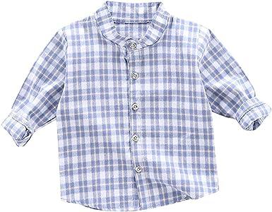 Camiseta de Manga Larga Niños | Niños pequeños Bebés y niños Plaid de Manga Larga Camisa de Caballero Guapo Ropa 6 Meses - 3 años: Amazon.es: Ropa y accesorios