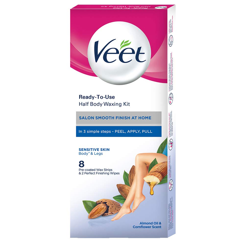 Veet Full Instant Waxing Kit for Sensitive Skin - 8 Strips