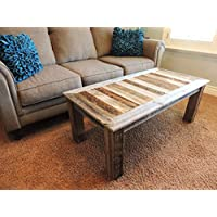 24 X 48 X 18 Bretton style Reclaimed Wood Rustic Barnwood Coffee Table