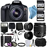Canon EOS Rebel T6 Digital SLR Camera with 18-55mm EF-S f/3.5-5.6 IS II Lens + 58mm Wide Angle Lens , 2x Telephoto Lens, Flash, 48GB SD Memory Card, UV Filter Kit + Tripod