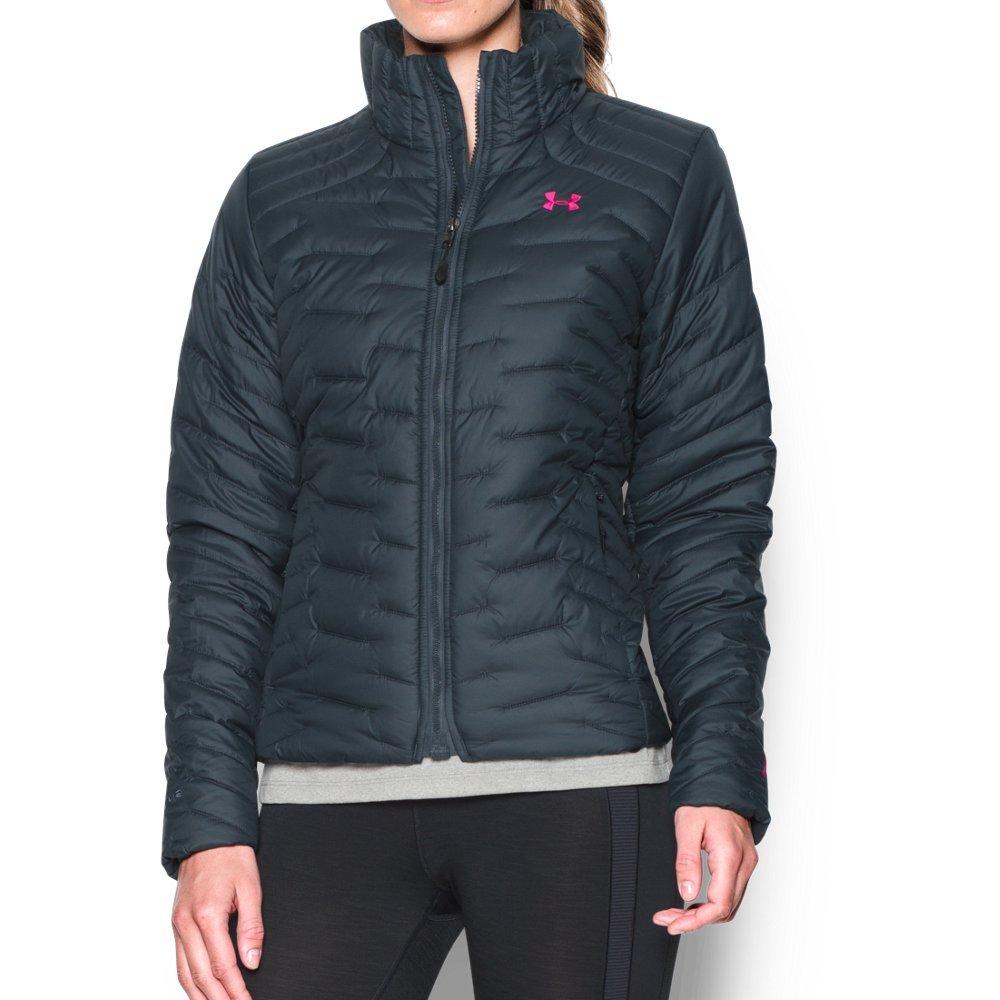 Under Armour Women's ColdGear Reactor Jacket, Stealth Gray/Black, Large