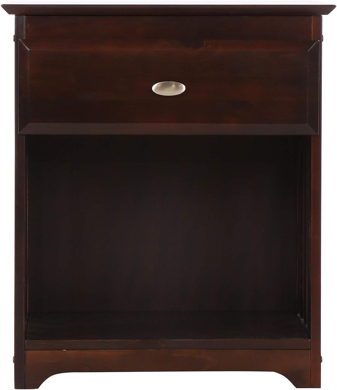 Discovery World Furniture Nightstand, Espresso