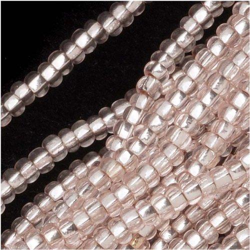 Jablonex Czech Seed Beads 11/0 Light Rose Silver Foil Lined (1 Hank/4000 Beads)