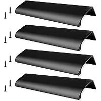 6 stuks mat zwart 150 mm aluminiumlegering kastgrepen, verborgen ladenknoppen, profielgreep, geborstelde deurgreep…
