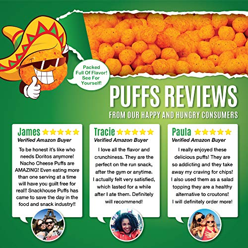 Snack House High Protein Low Carb Keto Snacks, Gluten Free Healthy Protein Puffs - No Sugar Added, Savory Diet Food for Adults and Kids, Jalapeño Cheddar, 7 Servings 6