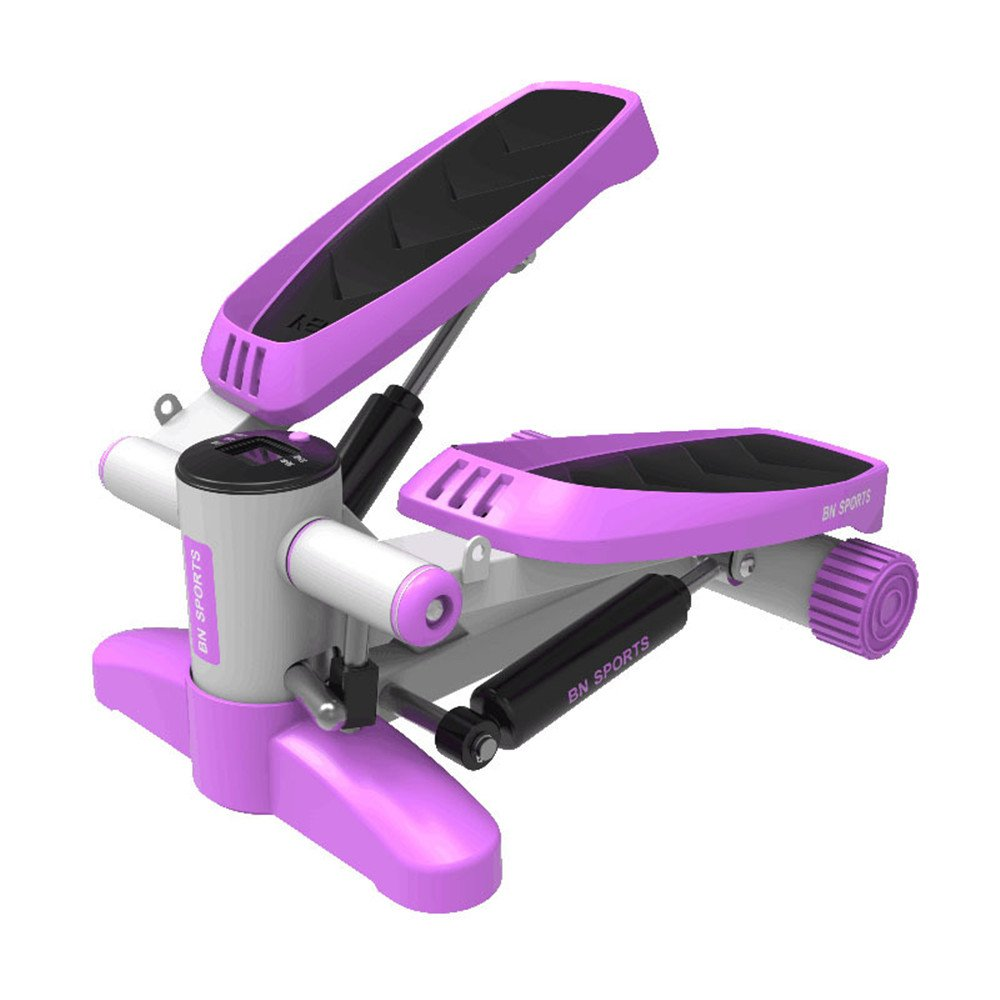 Stepper w Mini Stepper Up-Down Stepper, Heimtrainer mit Trainingsbändern Ideal für Männer, Frauen, Kinder und Senioren