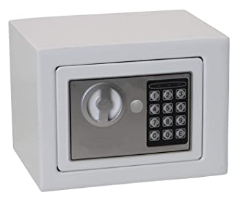a346fd85bbdd2 Mini Solid Steel Digital Electronic Safety Box Keypad Lock Safe for  Passport Cash Jewelry and Smartphones