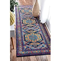 nuLOOM Multicolor Persian Floral Delena Runner, 2 Feet 8 Inches by 8 Feet